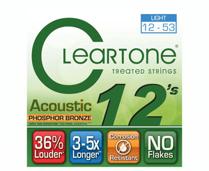 Cleartone Strings Phosphor Bronze Light Acoustic Guitar Strings - Megatone Music
