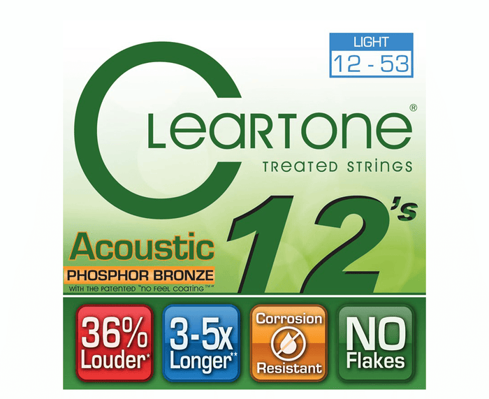 Cleartone Strings Phosphor Bronze Light Acoustic Guitar Strings