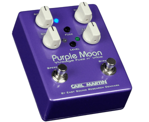 Carl Martin Purple Moon Vintage Fuzz N' Vibe Effects Pedal Fuzz Carl Martin