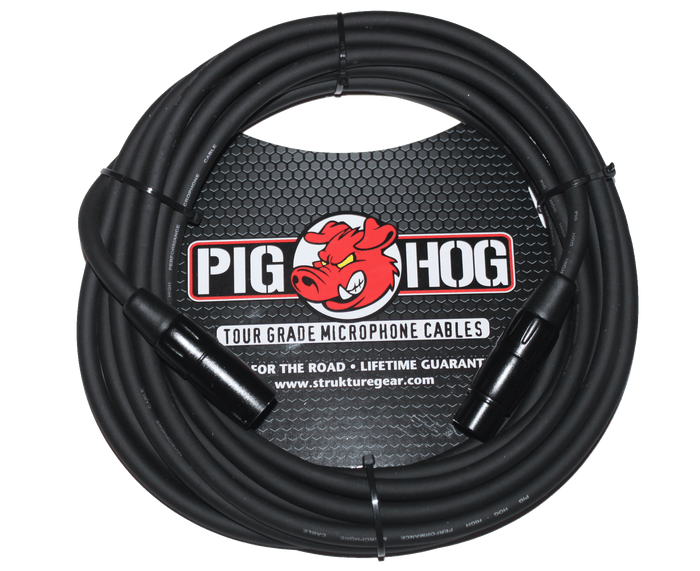 Pig Hog Tour-Grade PHM20 - 8MM Microphone Cable, 20FT XLR
