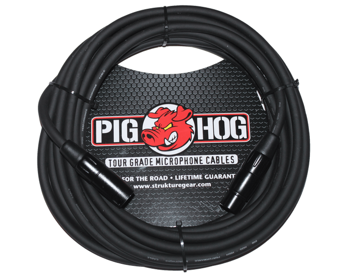 Pig Hog Tour-Grade PHM15 - 8MM Microphone Cable, 15FT XLR