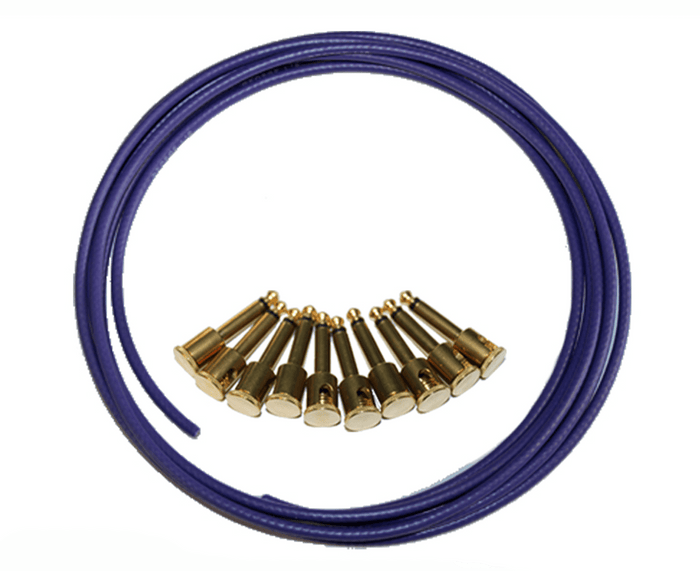 George L's Brass Pedalboard Cable Kit in Purple