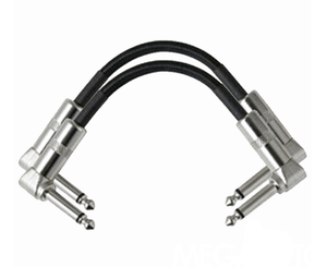 "Strukture 6"" Inch Right Angle Pedal Cable - 2 Pack - Megatone Music"