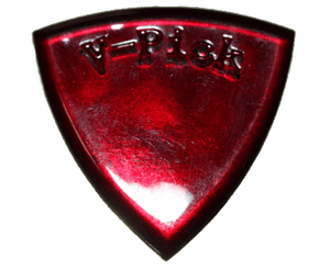 V-Picks Ruby Red Large Pointed Custom Guitar/Bass Pick 2.75mm - Megatone Music
