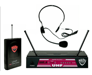 Nady UHF-4 LT/HM-3 Headset Wireless System with Digi TRUE Ch. 11 - Megatone Music