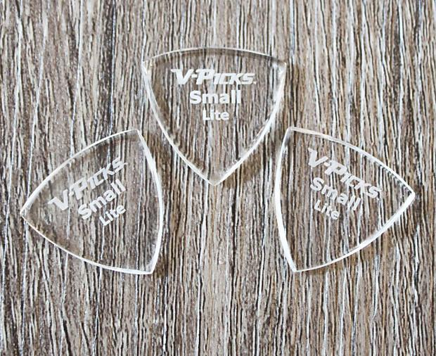 V-Picks Small Lite Pointed Custom Guitar Pick 1.5mm 3-Pack