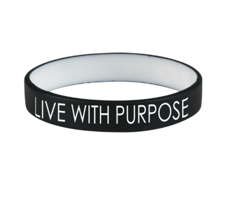 PAIR OF LIVE WITH PURPOSE BRACELETS