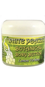 White Peacock Body Butter, Lemon Verbena - 2 oz