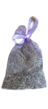 Lavender Sachet in Silk Drawstring Bag - Organic farming techniques