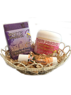 25% OFF! White Peacock Lavender Spa Gift Set - 3 Piece Set