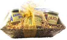 Gourmet Mustard Trio Gift Set in Seagrass Basket