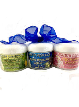 White Peacock Body Care Trio/Set of 3 - 2 oz each jar