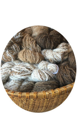 Llama Fiber, (light, medium or dark) - 4 oz skein (average)