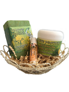 White Peacock Lemongrass Spa Gift Set - 3 Piece Set