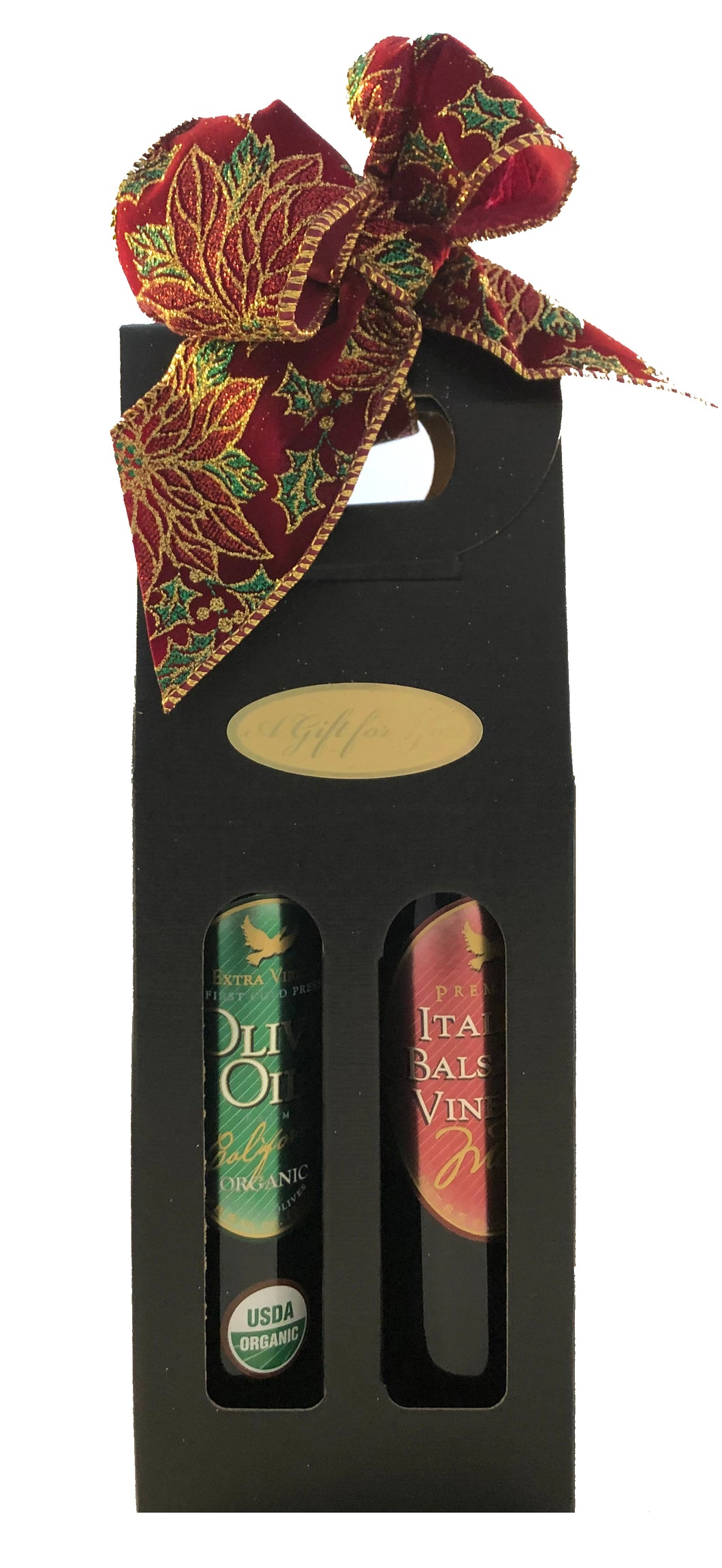 Signature Gift Set/Organic Olive Oil & Balsamic Vinegar - 8.5 oz ea (250 ml)