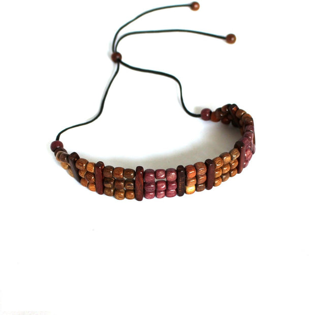 Wood Choker Necklace - Natural Artist