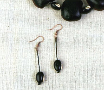 Boca de Pescado Seed Earrings - Natural Artist