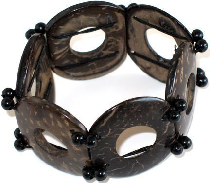 Coconut Bracelet - Circles - Natural Artist