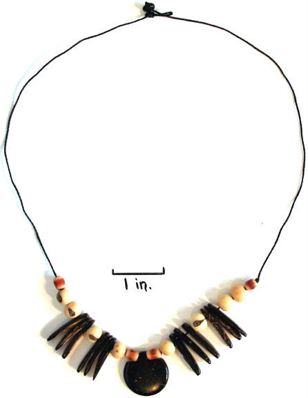 Coconut and Tagua Seed Necklace - Natural Artist