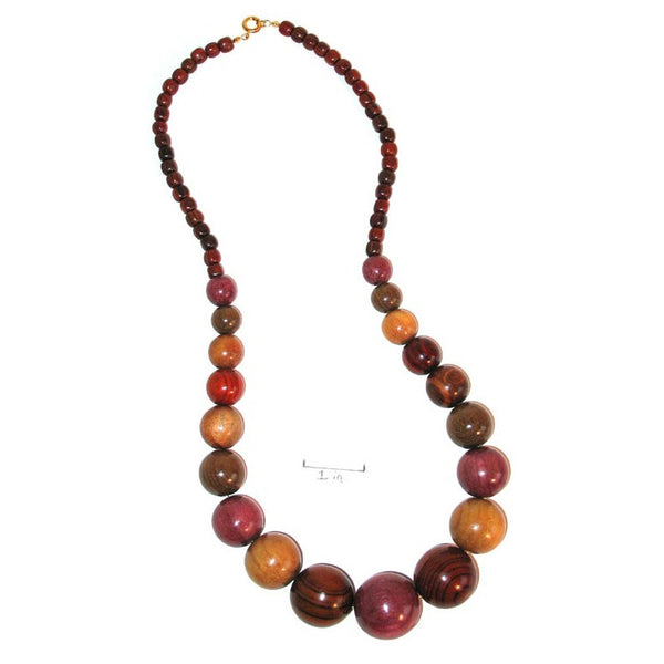 Wood Necklace - Luce - Natural Artist