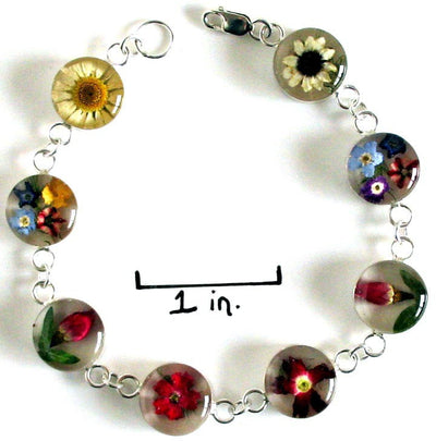 Real Flower Sterling Silver Bracelet - Isabel - Natural Artist