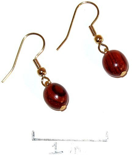 Rosewood Earrings - Bijou - Natural Artist