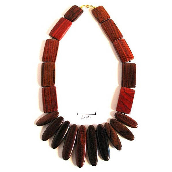 Rosewood Necklace - Athena - Natural Artist