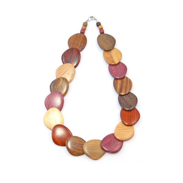 Wood Necklace - Cala - Natural Artist