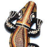 Bali Painted Wood Lizard - Lago - Natural Artist