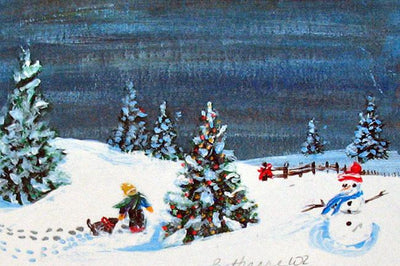 Winter Miniature Print - Tree of Light - Natural Artist