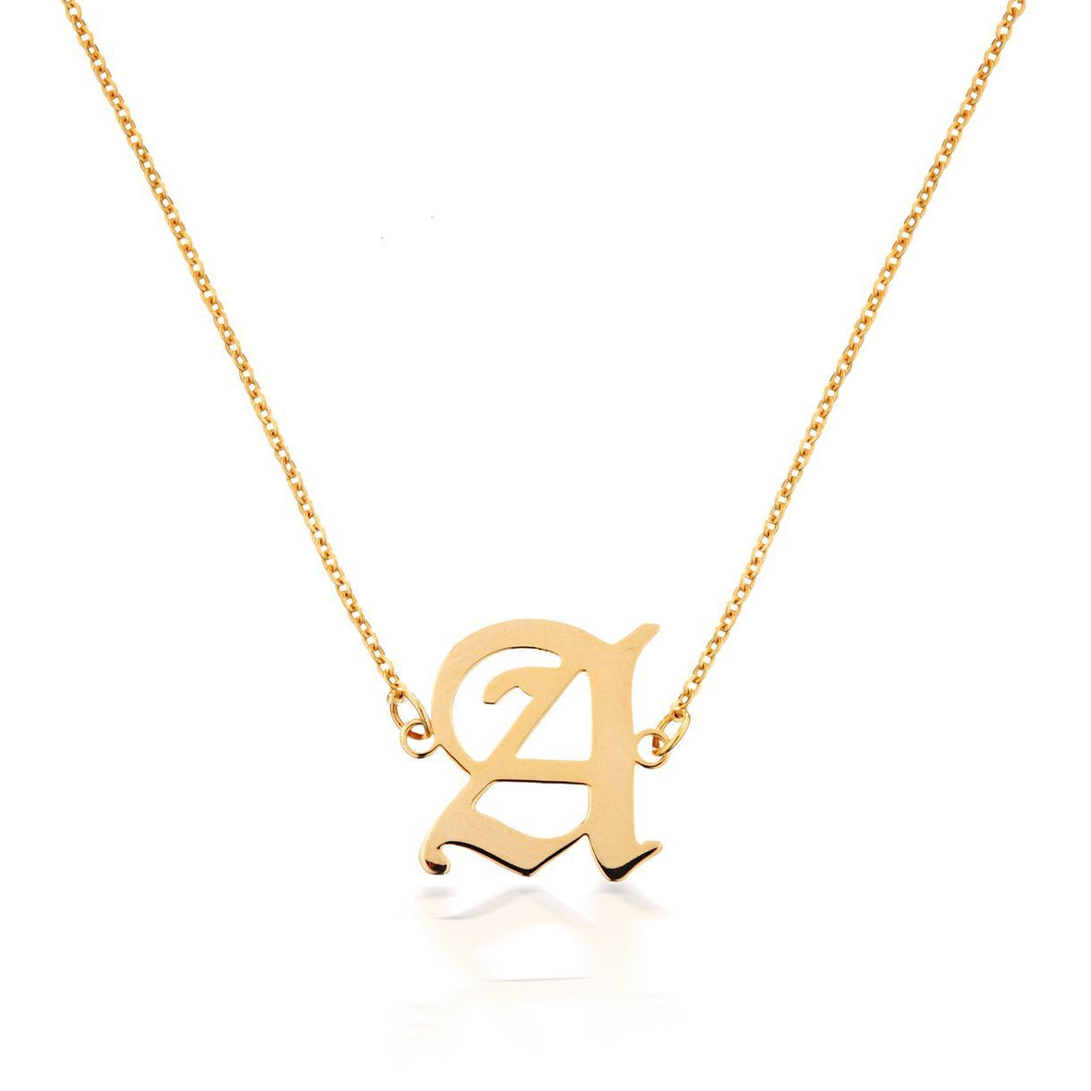 MINI GOTHIC INITIAL NECKLACE