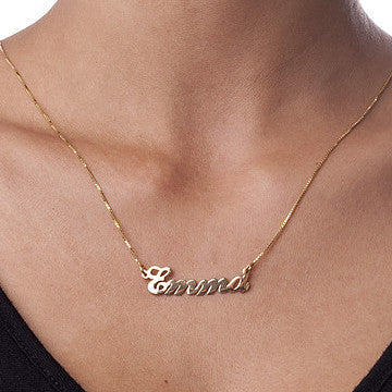 CLASSIC NAMEPLATE NECKLACE - GOLD