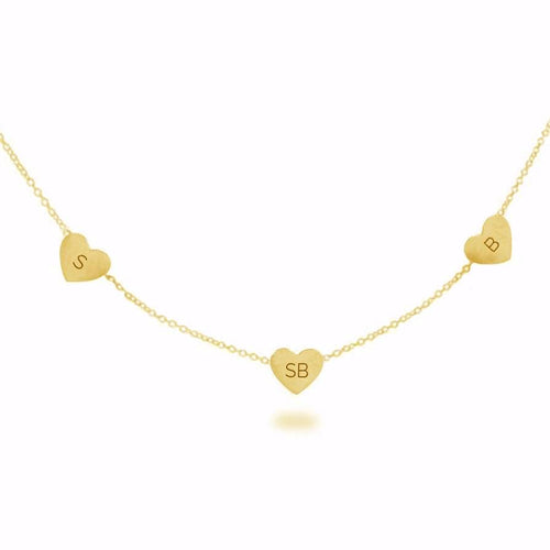 MULTI FLOATING HEART NECKLACE