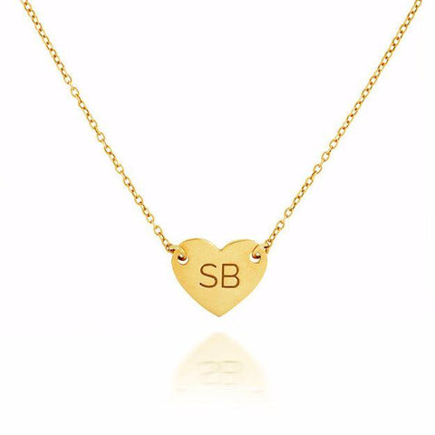 GOLD MINI DIGITAL HEART NECKLACE
