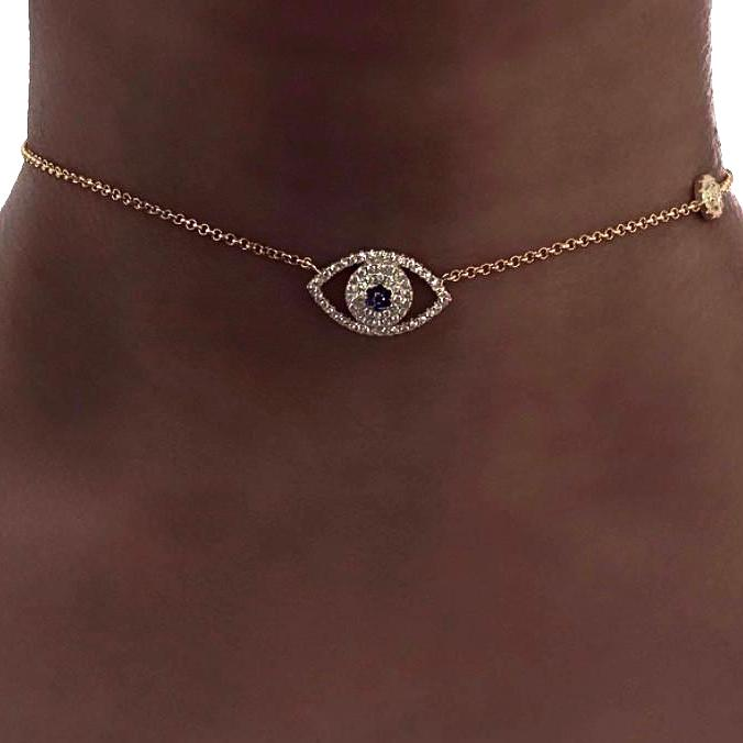 EVIL EYE CHOKER NECKLACE Collections by SB