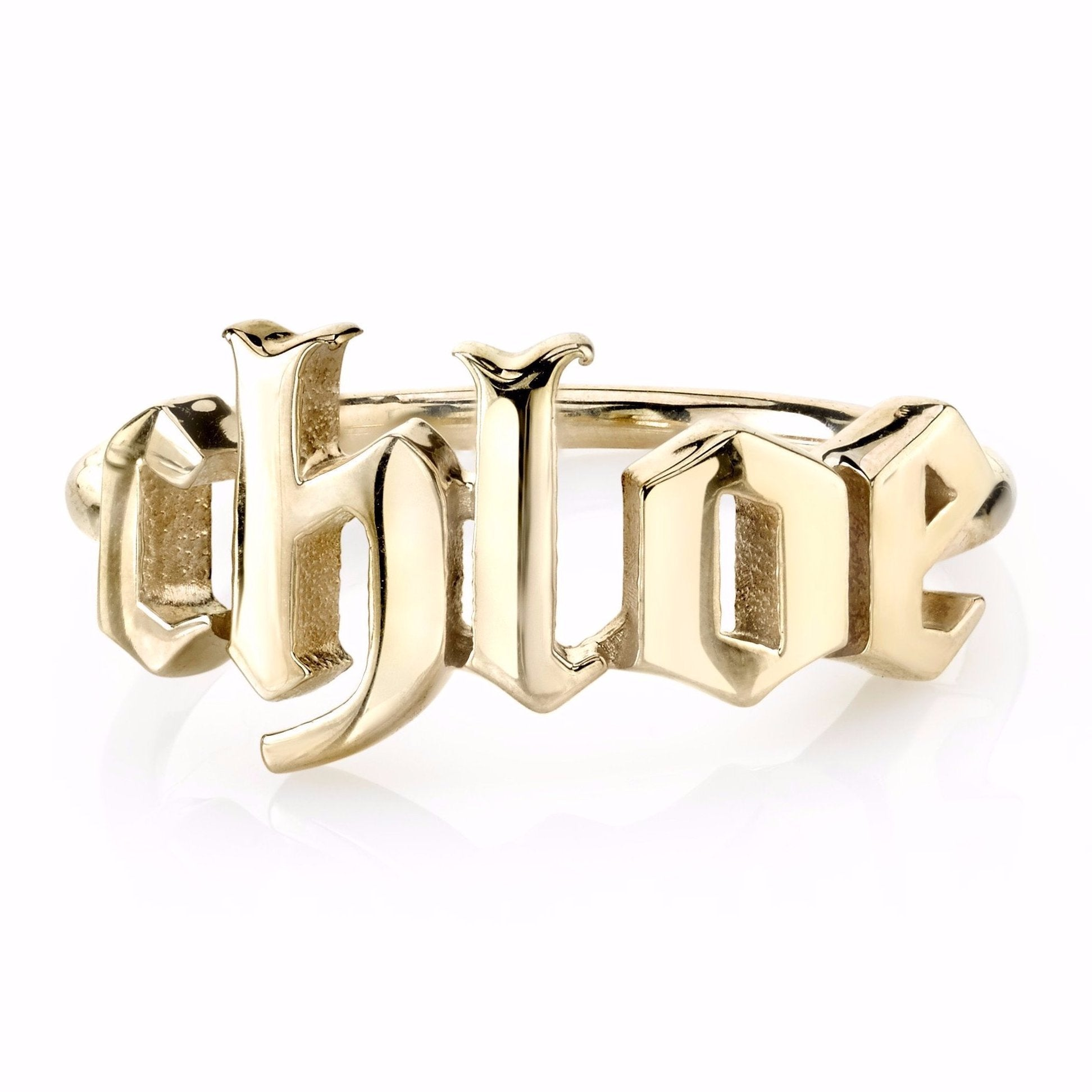MINI GOTHIC NAME RING