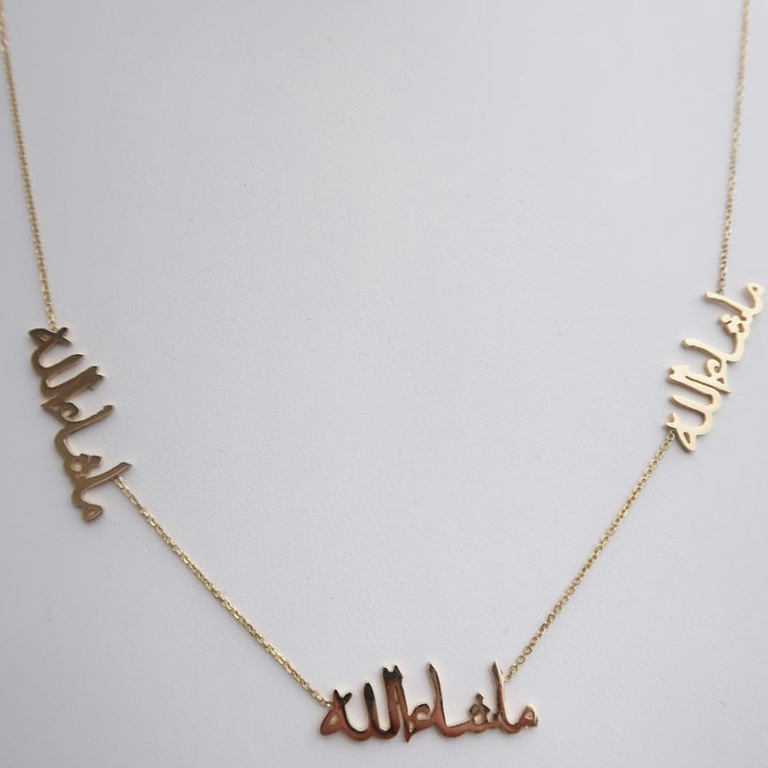 MULTI ARABIC NAMEPLATE NECKLACE