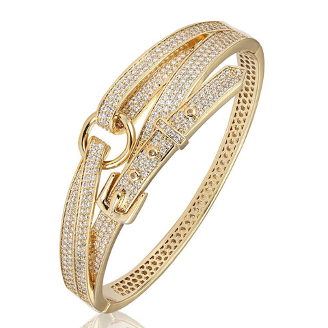 BAGUETTE SCREW BANGLE 3 ROW