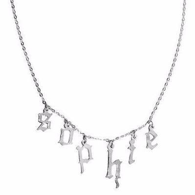 GOTHIC DROP PENDANT NECKLACE