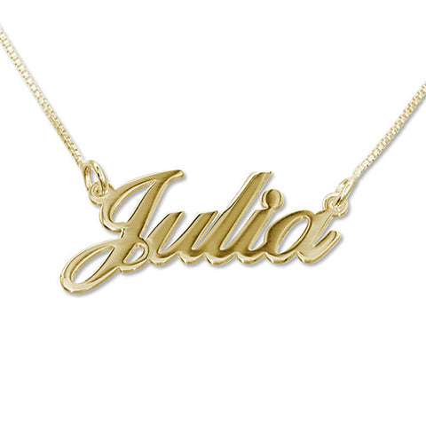 DOUBLE BAR NAMEPLATE NECKLACE