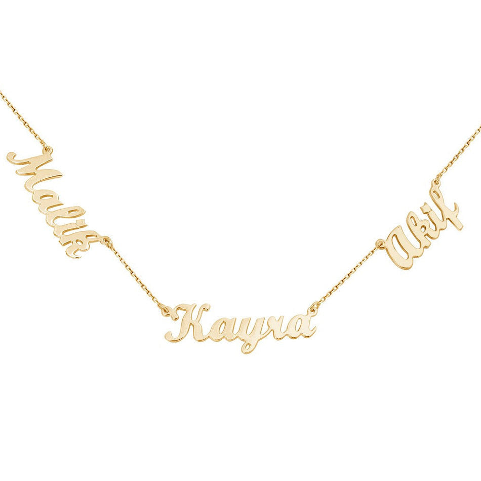 MULTI NAMEPLATE NECKLACE - GOLD