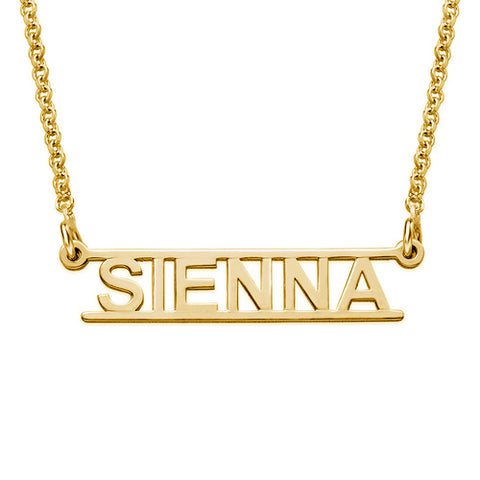 DOUBLE LAYER MULTI NAMES NECKLACE