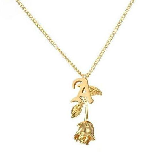 Rose letter necklace collections by sb rose letter necklace aloadofball Choice Image