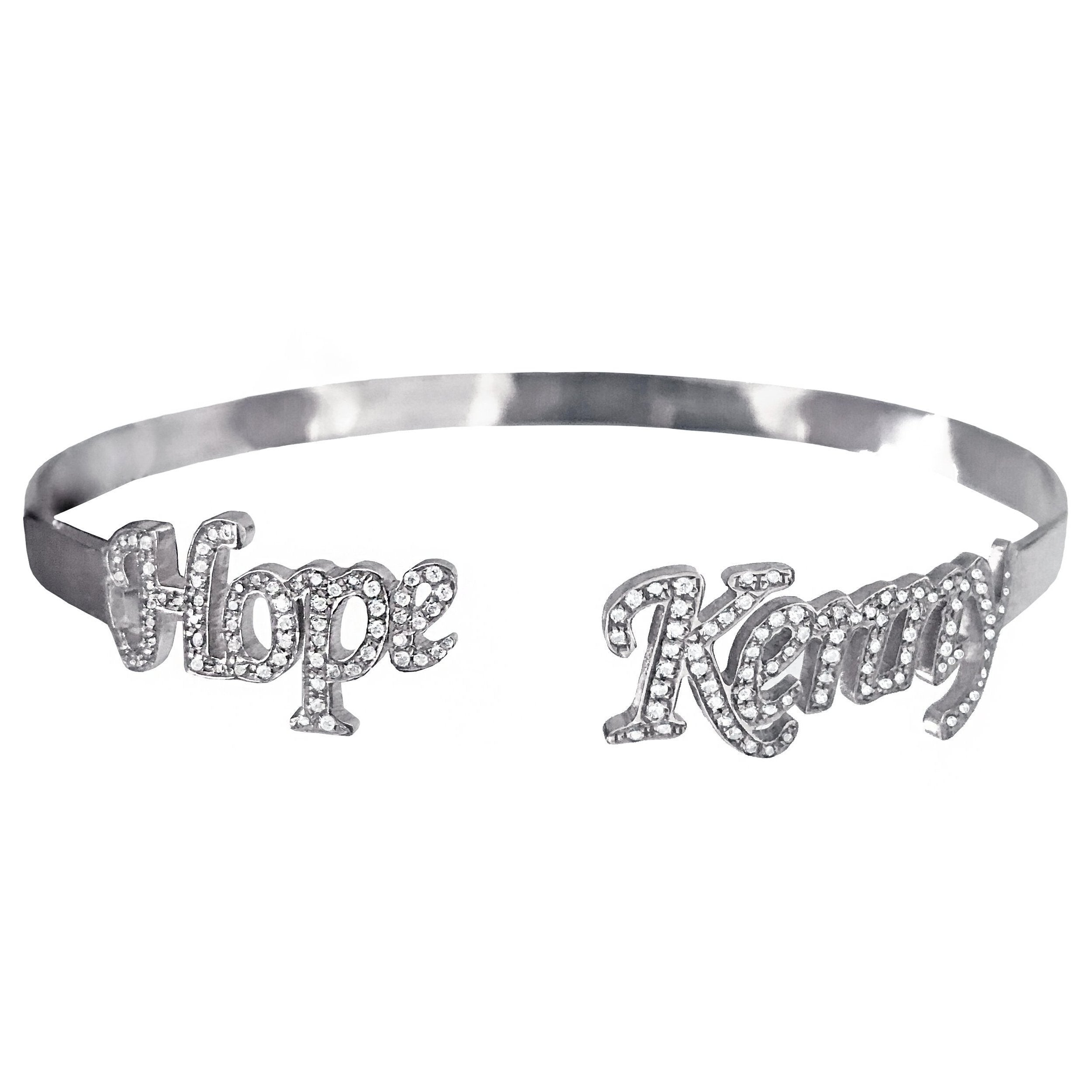 DOUBLE NAME CZ BANGLE