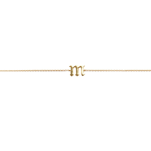 SINGLE LETTER CHOKER LOWERCASE - GOLD