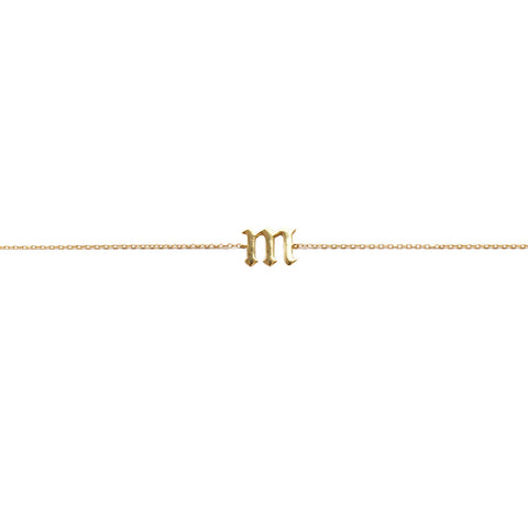 GOTHIC INITIAL LARIAT NECKLACE