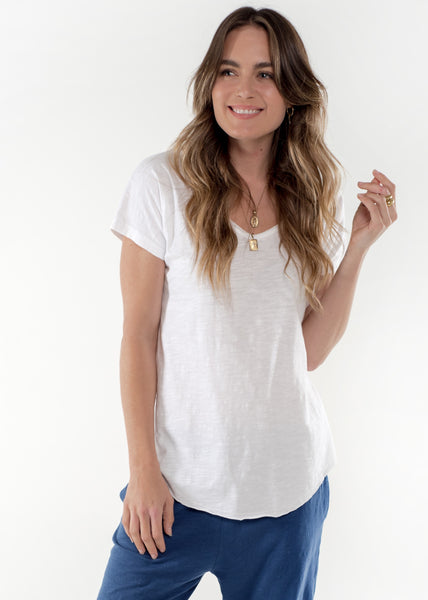 Sophia Cotton Tee - White