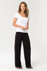 Bamboo Wide Leg Pant  - Black