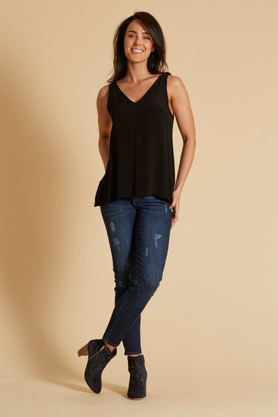 Basic Tank - Black - Eb & Ive - Tops - FOX AND SCOUT