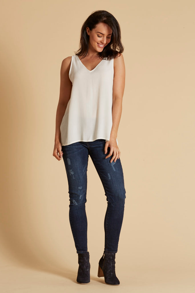 Basic Tank - Ivory - Eb & Ive - Tops - FOX AND SCOUT
